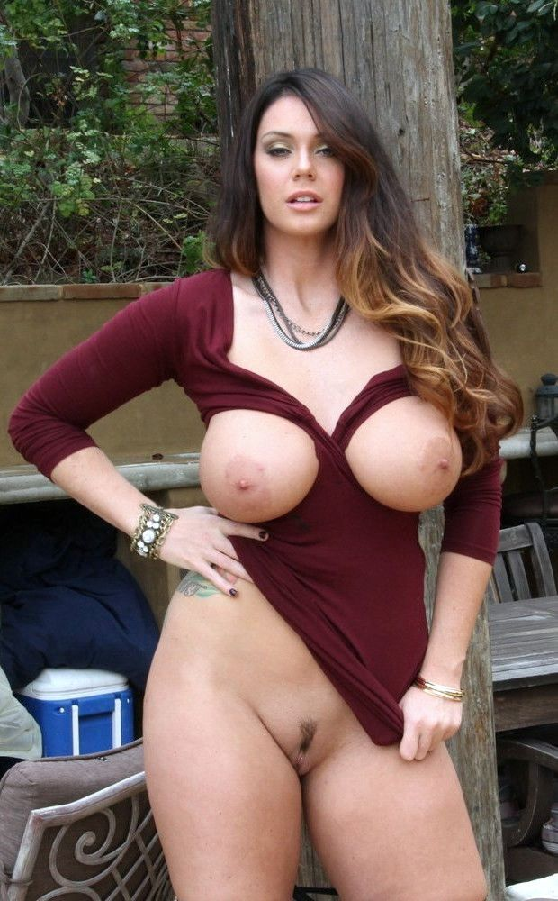 image Busty brunette actress amber cox goes off script on set